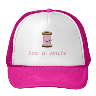 Sew a smile trucker hat