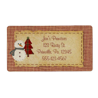 Sew Christmas Business Label Shipping Label
