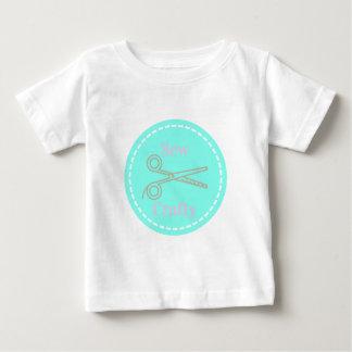 Sew Crafty Pastel Pink Gray Aqua Baby T-Shirt