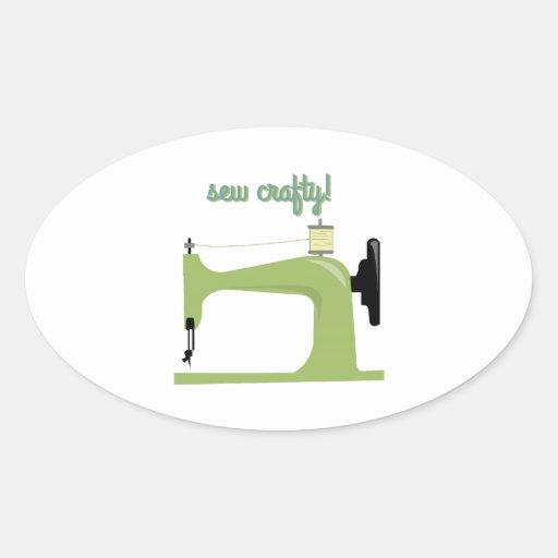 Sew Crafty Oval Stickers