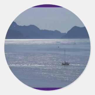 Seward Inlet Alaska Classic Round Sticker