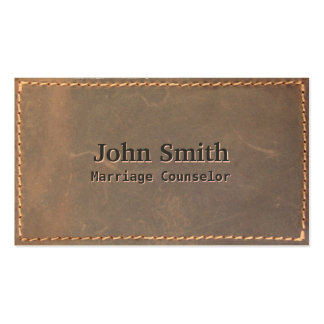 Sewed Leather Marriage Counseling Business Card