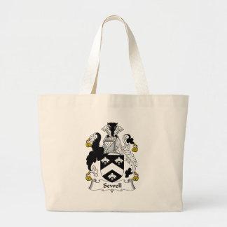 Sewell Family Crest Jumbo Tote Bag