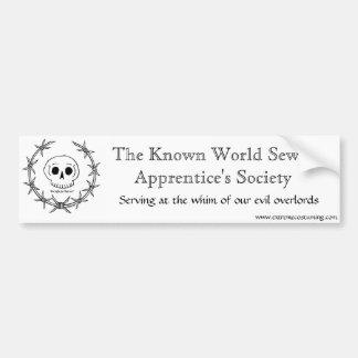 Sewer Apprentice Society Bumper Sticker
