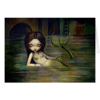 """Sewer Mermaid"" Greeting Card"