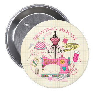 Sewing Badge 3 Inch Round Button