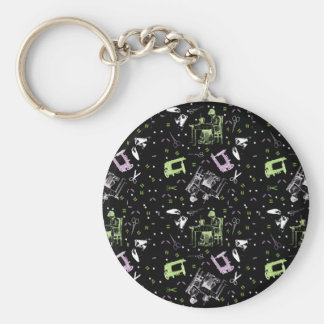 Sewing Basic Round Button Keychain