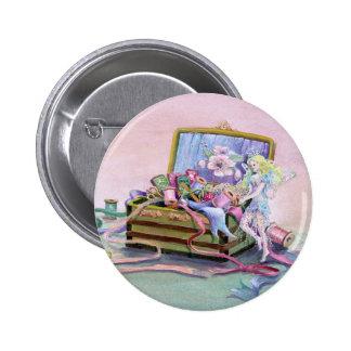 SEWING BOX FAEIRE by SHARON SHARPE 2 Inch Round Button