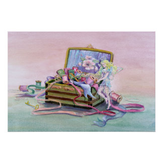 SEWING BOX FAERIE by SHARON SHARPE Poster