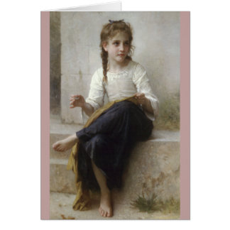 Sewing by William-Adolphe Bouguereau Card