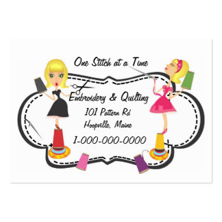 Sewing & Embroidery Large Business Card
