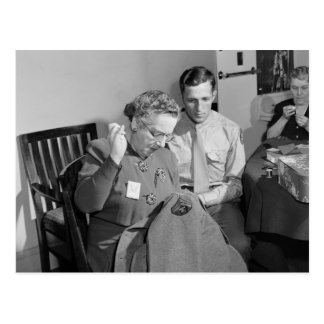Sewing for the Cause, 1943 Postcard