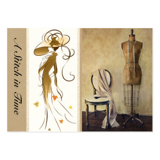 Sewing / Handmade By / Fashion Large Business Card