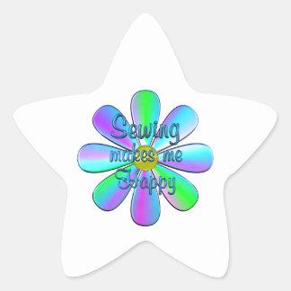 Sewing Happy Star Sticker