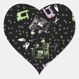 Sewing Heart Sticker