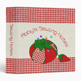 Sewing Hobby Patterns or Information in Gingham Binder