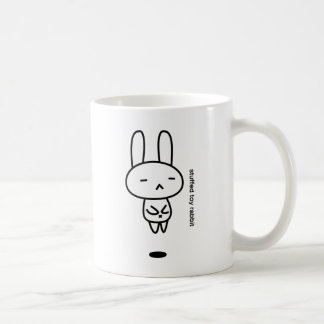 Sewing involving the rabbit/floating coffee mug
