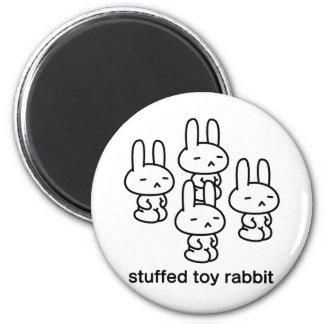 Sewing involving the rabbit/sitting straight 2 inch round magnet