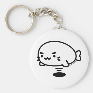 Sewing involving the seal basic round button keychain
