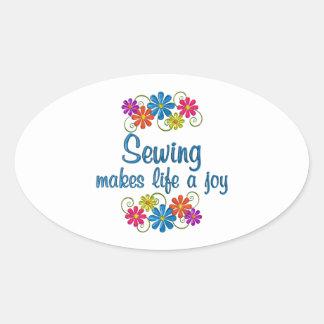 Sewing Joy Oval Sticker