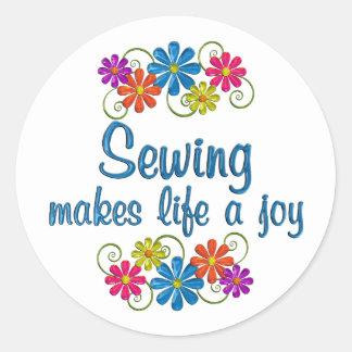 Sewing Joy Round Sticker