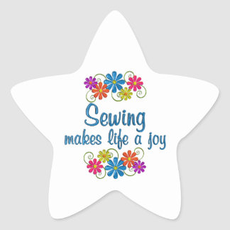 Sewing Joy Star Sticker