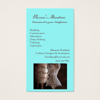 sewing.jpg, Blossom's Alterations, WeddingCusto... Business Card