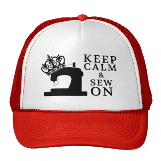 Sewing • Keep Calm Sew On Crafts Trucker Hat