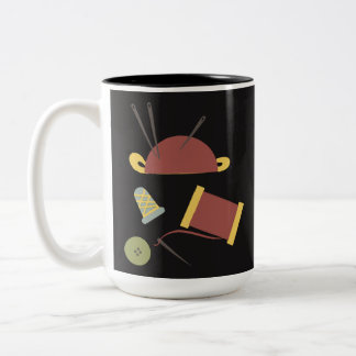 Sewing Kit Mug Dark