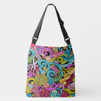 Sewing Knitting All Over Print Bag