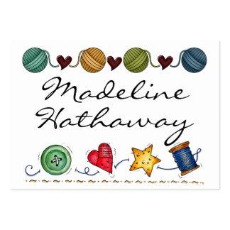 Sewing - Knitting - Handmade -  SRF Business Card Templates