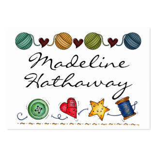 Sewing - Knitting - Handmade -  SRF Large Business Card
