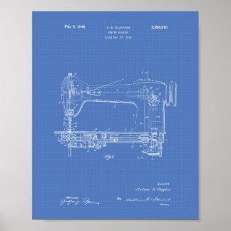 Sewing Machine 1946 Patent Art Blueprint Poster