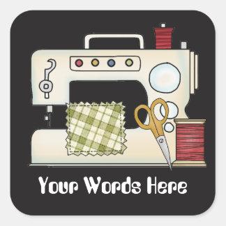 Sewing machine add words crafting sticker