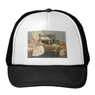Sewing Machine and Dress Trucker Hat