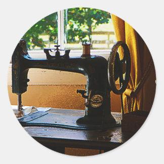 Sewing Machine and Lamp Round Sticker