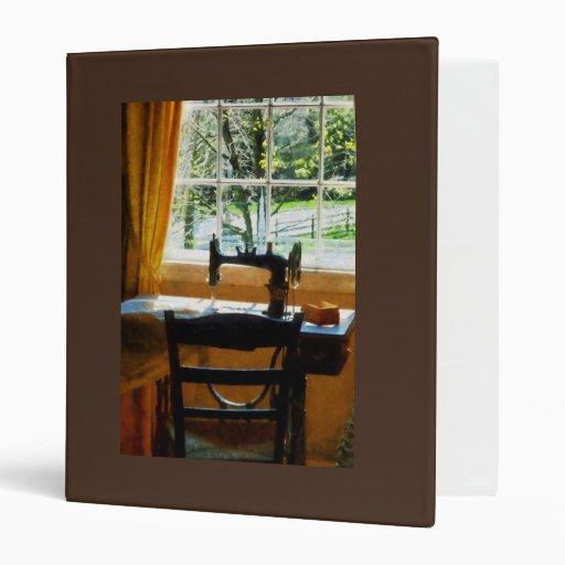 Sewing Machine By Window 3 Ring Binder