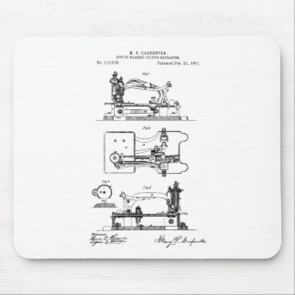 Sewing Machine feeding mechanism - Mary Carpenter Mouse Pad