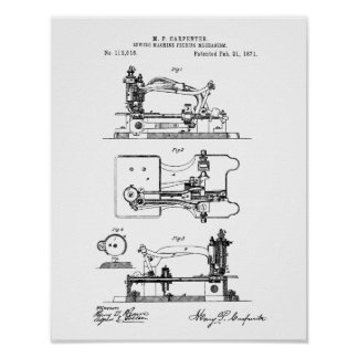 Sewing Machine feeding mechanism - Mary Carpenter Poster
