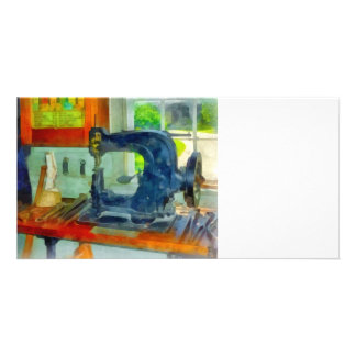 Sewing Machine in Harness Room Photo Greeting Card