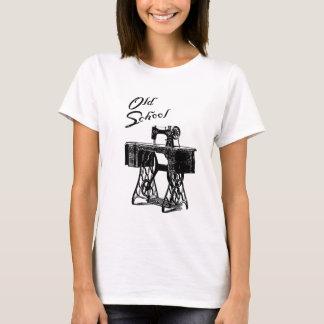 Sewing Machine 'Old School' Ladies T-Shirt