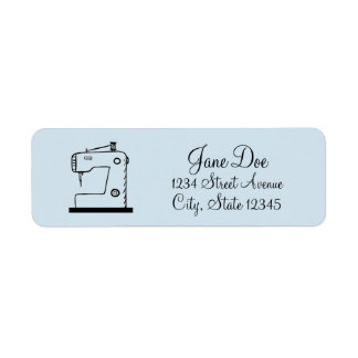 Sewing Machine Sketched ♥ Crafts Return Address Label
