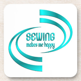 Sewing Makes Me Happy Coaster