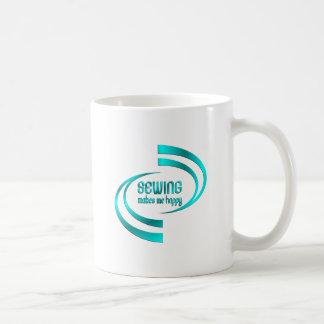 Sewing Makes Me Happy Coffee Mug