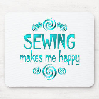 Sewing Makes Me Happy Mouse Pad