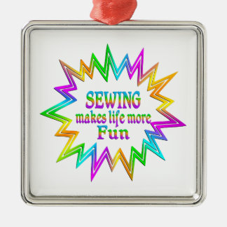 Sewing More Fun Metal Ornament