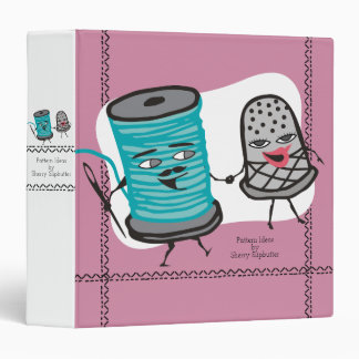 sewing needle spool of thread thimble love binder