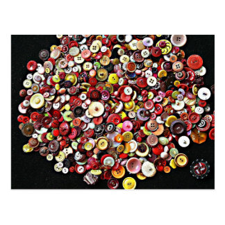 Sewing Notions Vintage Buttons Postcard
