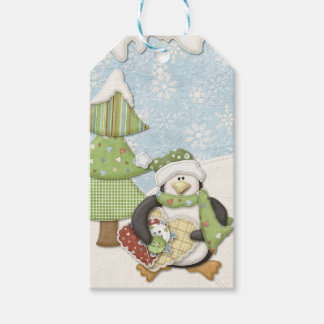 Sewing Penguin Pack Of Gift Tags