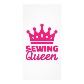 Sewing queen photo card